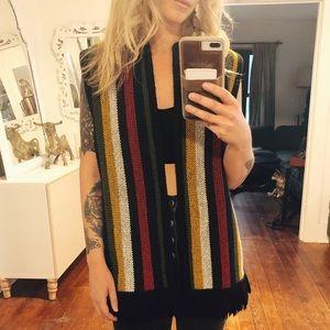 Super cute multi colored vintage vest